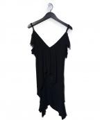 Ys(ワイズ)の古着「デザインキャミソールブラウス」|ブラック