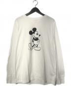 TAKAHIROMIYASHITA TheSoloIst.(タカヒロミヤシタザソロイスト)の古着「Mickey Mouse crew neck l/s tee」|ホワイト