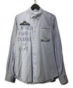 PEEL&LIFT(ピールアンドリフト)の古着「アナーキーシャツ」 ブルー