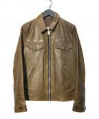 UNDERCOVER(アンダーカバー)の古着「UISMレザージャケット」|ブラウン