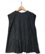 DES PRES(デプレ)の古着「ノースリーブブラウス」|ブラック