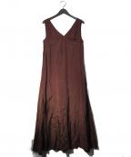 CASA FLINE(カーサフライン)の古着「ノースリーブロングマキシワンピース」|ボルドー