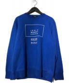 ()の古着「プリントスウェット LOGIC MEMORY CENTER」|ブルー