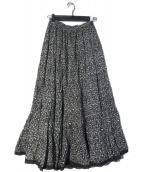 MARIHA(マリハ)の古着「草原の虹 ミニフラワースカート」|ブラック