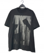 LAD MUSICIAN(ラッドミュージシャン)の古着「ラバープリントTシャツ」 ブラック