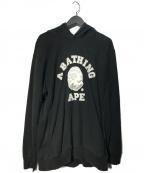 A BATHING APE(エイプ)の古着「プルオーバーパーカー」|ブラック