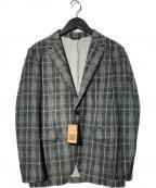 COMME CA MEN(コムサメン)の古着「モナリザチェック3Pセットアップスーツ」 グレー