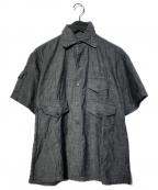 POST OALLS(ポストオーバーオールズ)の古着「3ポケットワークシャツ」|グレー