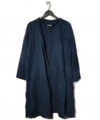 fog linen work(フォグリネンワーク)の古着「リネンコート」 ネイビー