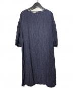 fog linen work(フォグリネンワーク)の古着「リネンワンピース」 ネイビー