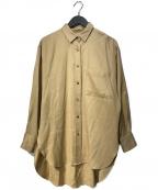 1er Arrondissement(プルミエ アロンディスモン)の古着「アセテートヴィスコースツイルシャツ」|ベージュ