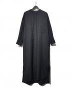 1er Arrondissement(プルミエ アロンディスモン)の古着「バンドカラーシャツワンピース」|ブラック