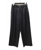 ()の古着「ウールサテンパンツ」 ブラック