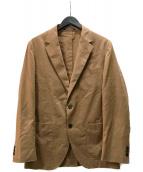 ()の古着「ET クラッシュ LI 2B NT 2PPジャケット」 ブラウン