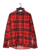 UNDERCOVERISM(アンダーカバーイズム)の古着「SCAB期 クラッシュタータンチェックシャツ」|レッド