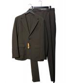 COMME CA MEN(コムサメン)の古着「トリクシオンパッカブル セットアップスーツ」|ブラウン