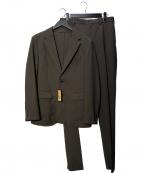 COMME CA MEN(コムサメン)の古着「トリクシオンパッカブル セットアップスーツ」 ブラウン