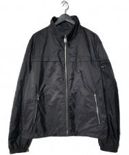 PRADA (プラダ) アームロゴプレート付 ナイロンジャケット ブラック サイズ:52 2019 SGN998