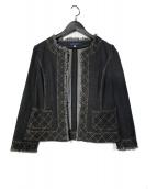 ()の古着「ステッチデニムジャケット」 ブラック