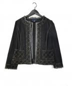 MS GRACY(エムズグレイシー)の古着「ステッチデニムジャケット」|ブラック