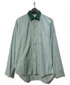 CDG JUNYA WATANABE MAN(コムデギャルソン ジュンヤワタナベマン)の古着「ウールカラーL/Sシャツ」 グリーン