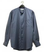 URBAN RESEARCH(アーバンリサーチ)の古着「WASHABLEウールバンドカラーシャツ」|ブルー
