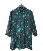 Leilian(レリアン)の古着「総柄シャツ」 グリーン