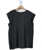 Leilian(レリアン)の古着「ノースリーブブラウス」 ブラック