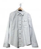 Leilian(レリアン)の古着「総柄シャツ」 ブルー