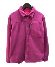 SUPREME (シュプリーム) Polartec Fleece Shirt Greyフリース ショッキングピンク サイズ:M