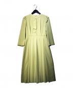 CELFORD(セルフォード)の古着「ボウタイプリーツワンピース」|グリーン
