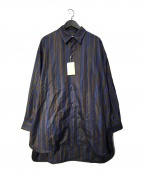 Luis(ルイス)の古着「マルチストライプスリットテールシャツ」|ネイビー