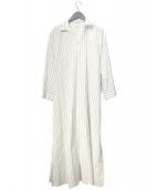 ()の古着「スキッパーロングシャツドレス」 ホワイト