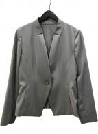 ()の古着「ストライプ1Bジャケット」 グレー