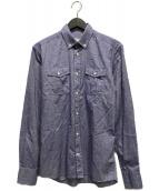()の古着「ボタンダウンシャツ」|インディゴ