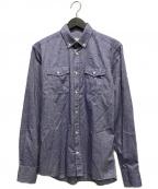 maison kitsune(メゾンキツネ)の古着「ボタンダウンシャツ」|インディゴ