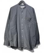 URBAN RESEARCH(アーバンリサーチ)の古着「トーマスメイソンバンドカラーシャツ」|グレー