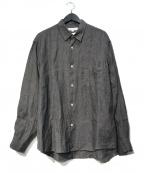 URBAN RESEARCH(アーバンリサーチ)の古着「ハードマンリネンレギュラーシャツ」|グレー