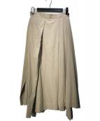 ()の古着「ラップ風スカート」 ベージュ
