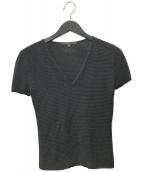 ()の古着「半袖ニット」 ブラック