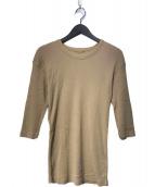 ()の古着「RIB Tシャツ」 ベージュ