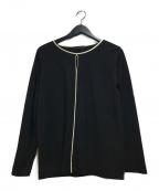 icB(アイシービー)の古着「ロングスリーブブラウス」|ブラック