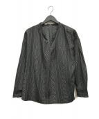 ()の古着「アソートプリントスキッパーブラウス」 ブラック