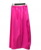 COMME des GARCONS(コムデギャルソン)の古着「ロングスカート」 ピンク