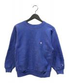 ()の古着「90's 刺繍タグ リバースウィーブスウェット」 パープル