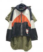 Maison MIHARA YASUHIRO(メゾン ミハラヤスヒロ)の古着「21ss Docking Shirt Parka ドッキング」|ホワイト×ブラック