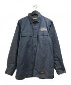 NEIGHBORHOOD(ネイバーフッド)の古着「CLASSIC WORK L/S SHIRT ワークシャツ」|ネイビー