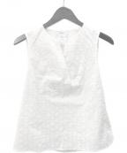 MAX&Co.(マックスアンドコー)の古着「刺繍ノースリーブブラウス Dispone」|ホワイト