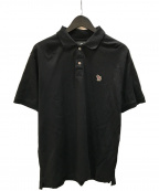 PS Paul Smith(PSポールスミス)の古着「21ss ゼブラワッペン オーガニックコットンポロシャツ」|ブラック