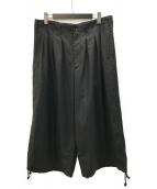 ()の古着「Balloon Pants Double Serge」 ブラック